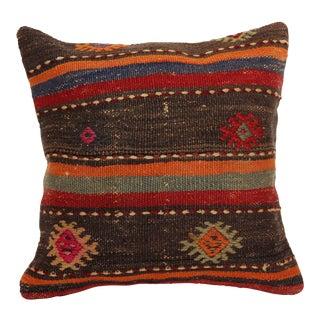 "Turkish Vintage Kilim Pillow Decorative Handmade Cover - 16"" x 16"""
