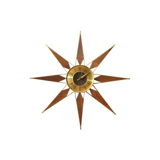 Elgin Mid Century Starburst Wall Clock