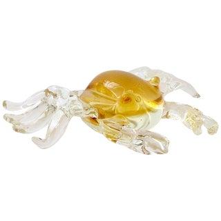 Vintage Italian Mid-Century Murano Style Glass Crab Sculpture