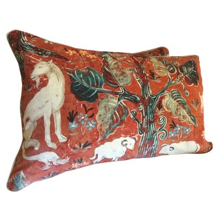 Melissa White Zoffany Arden Red Down Pillow - Pair