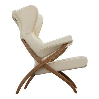Franco Albini for Arflex Leather Fiorenza Lounge Chair