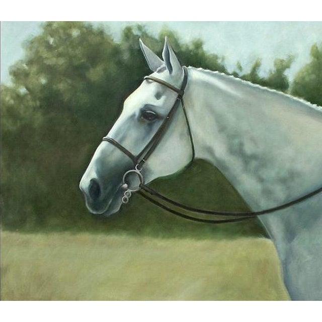 Tina Duryea 'Classic Grey' Horse Oil Painting - Image 1 of 4