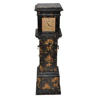 Chinoiserie Grandfather Clock & Cabinet