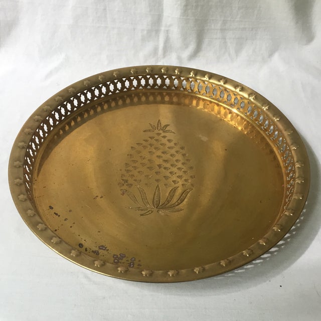 Brass Pineapple Tray - Image 3 of 6