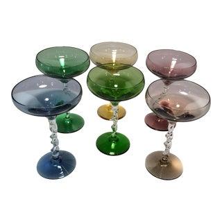 Vintage Crystal Cocktail Glasses - Set of 6