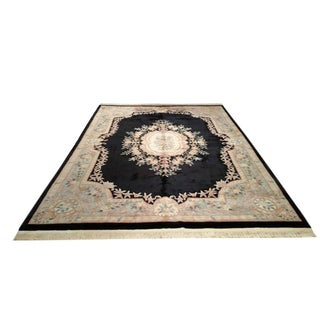 Traditional Handmade Knotted Rug - 10′ × 14′
