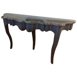 Blue Lacquered Console Table