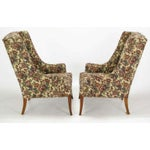 Image of Pair Low-Arm Wing Chairs In Grosfeld House Manner