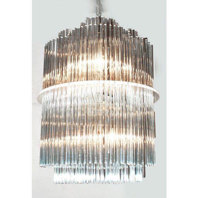 Sciolari Style Clover Glass Chandelier - Image 2 of 4