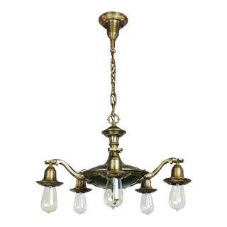 Art Nouveau Bare Bulb Light Fixture (5-Light)