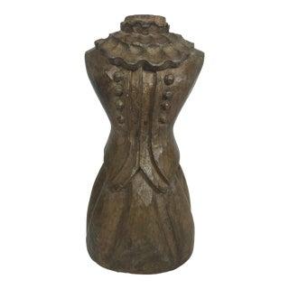Vintage Carved Wood Dress Form