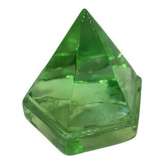 Green Glass Prism