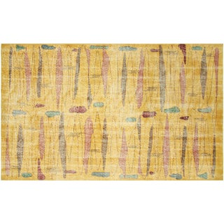 "Turkish Art Deco Rug - 5'1"" x 8'8"""