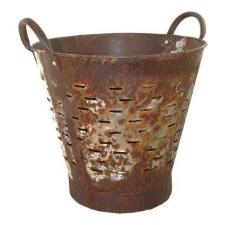 Vintage Olive Bucket | Harvest Bucket