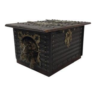 Gilded Bronze Dog Box