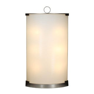 Fontana Arte Nickel and Glass Pendant Lamp