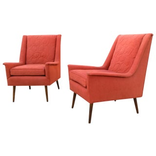 Mid-Century Cayenne Lounge Chairs- Pair