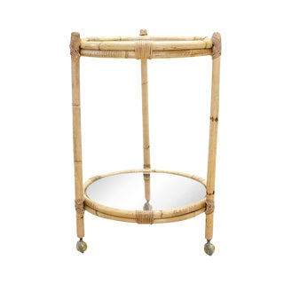 Bamboo and Glass Bar Cart