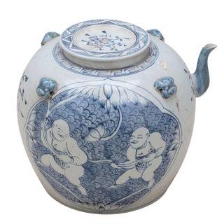 Sarreid LTD Traditional Blue & White Tea Serving Pot