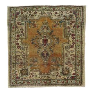 Vintage Small Persian Rug - 3′ × 3′1″
