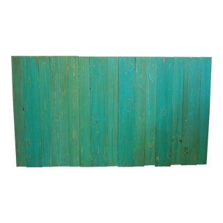 Turquoise Queen Hanger Barn Walls Headboard