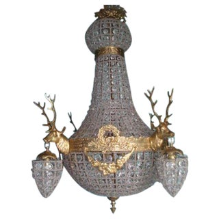 Decorated Chandelier in Louis XVI Style