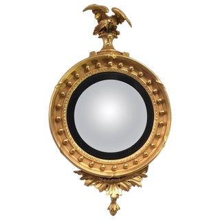 19th Century Federal Bullseye Convex Mirror