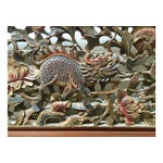 Image of Japanese Hand Carved Headboard