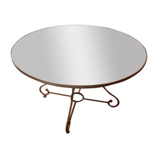 Oly Studio Bronze Iron and Aged Mirror Round Table