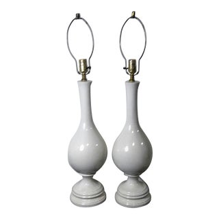 Blanc De Chine Baluster Shaped Lamps - A Pair