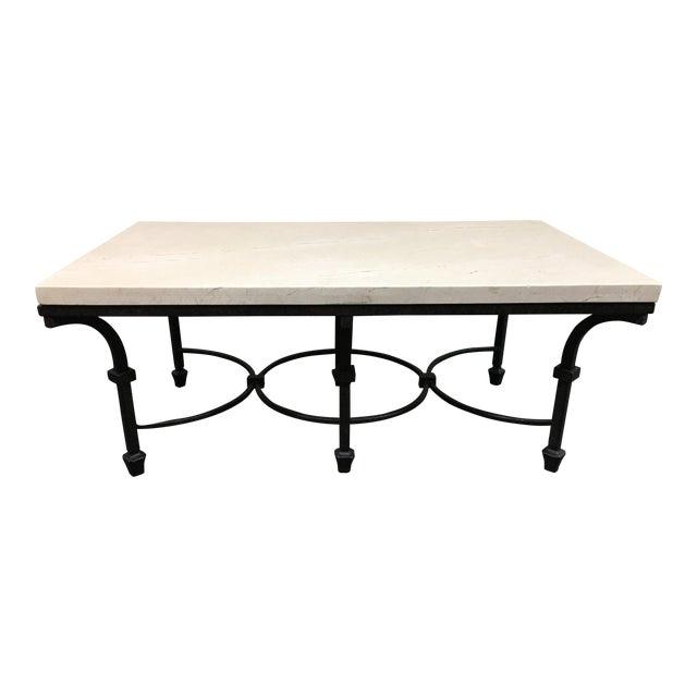 Iron Marble Top Coffee Table: Kolkka Furniture Wrought Iron & Marble Coffee Table