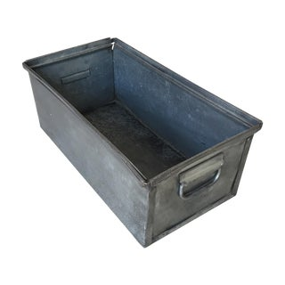 Vintage Industrial Metal Storage Box