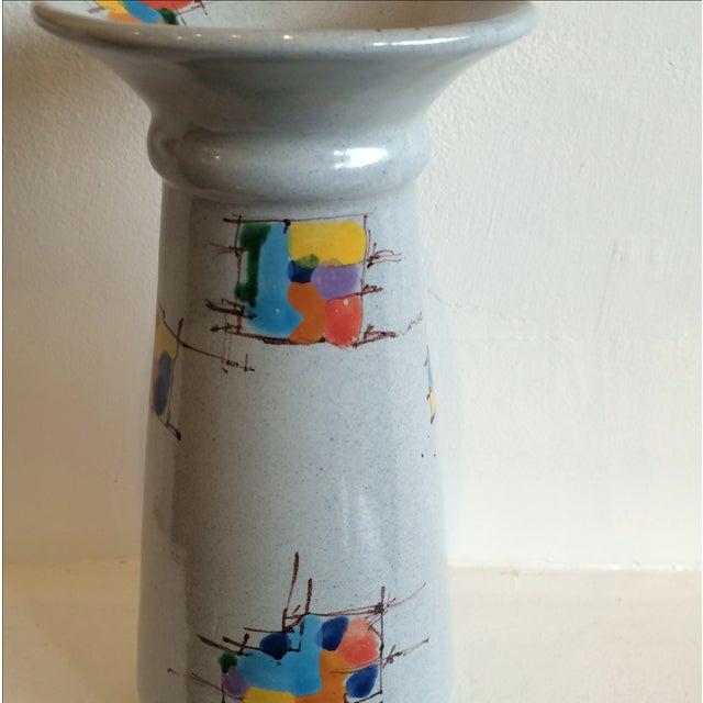 Deruta Italian Pottery Tall Vase - Image 4 of 8