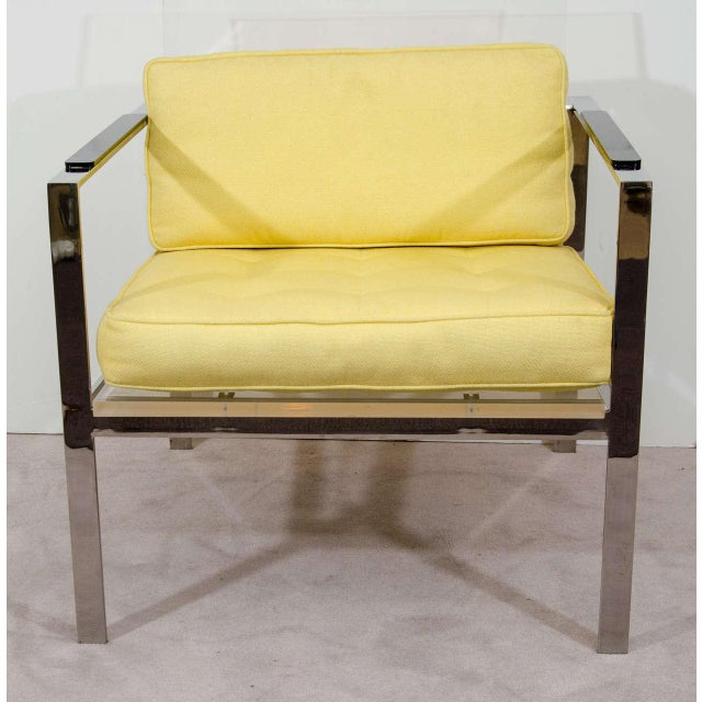 Rare Pair of Modernist Lucite And Nickeled Bronze Chairs by Laverne - Image 3 of 10