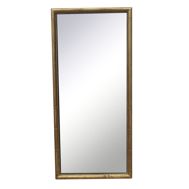 Faux Bamboo Gold Mirror - Image 1 of 5