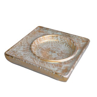 Signed Stangl Pottery Gold-Leaf Ashtray