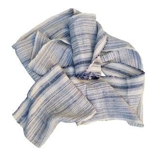 Homespun Striped Indigo Linen Roll