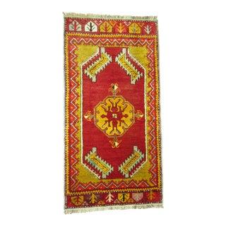 Antique Turkish Yastik Rug - 1′8″ × 3′4″