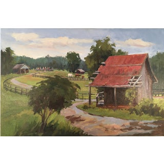 'The Corn Crib' Oil Painting