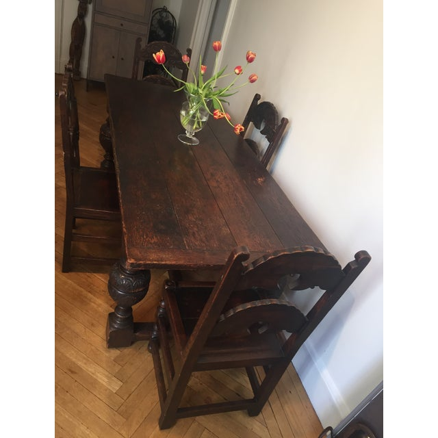 Antique Tudor Table - Image 3 of 9