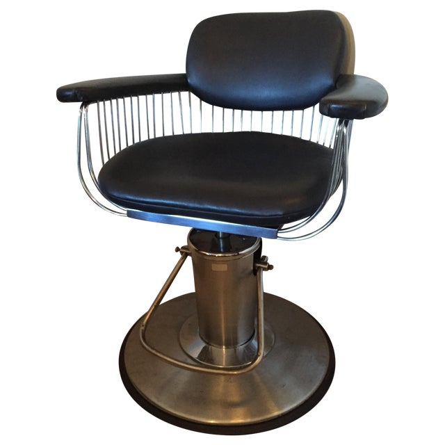 warren platner style barber chair chairish