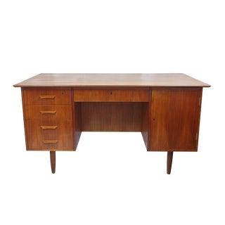 Danish Open Back Storage Desk