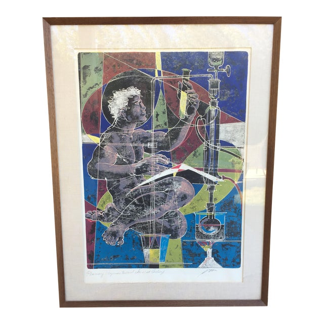 Mid-Century Signed Hans Erni Lithograph - Image 1 of 11