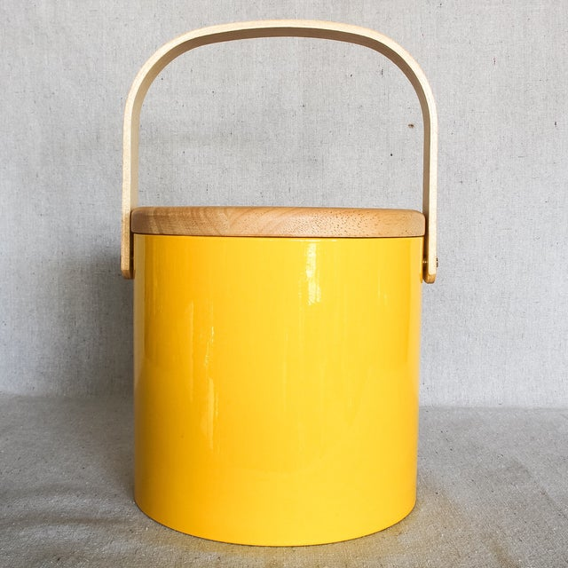 Georges Briard Yellow Ice Bucket - Image 2 of 9
