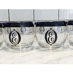Image of Vintage Lowball Glasses Monogram E - Set of 8