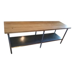 John Boos Maple Butcher Block and Galvanized Steel Work Table