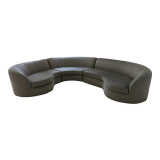 Elegant Curved Sectional Sofa by Milo Baughman