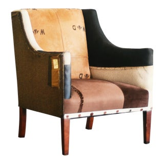 Men's Patched Suit Jacket Chair