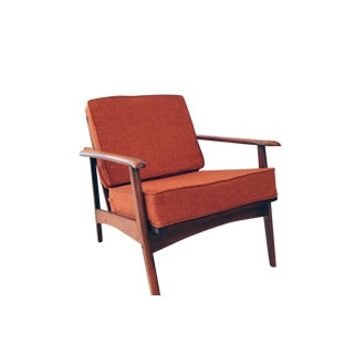 Vintage Orange Mid-Century Modern Lounge Chair