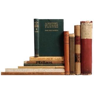 Distressed Antique Art Books - Set of 11